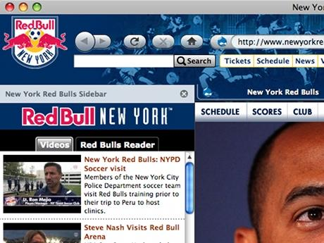 Download Red Bull New York Soccer Firefox Theme