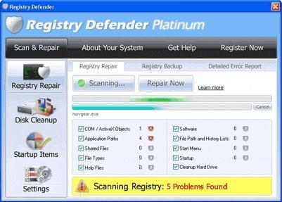 Download Registry Defender 2011