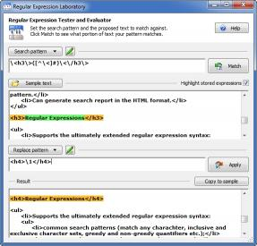 Download Regular Expression Laboratory