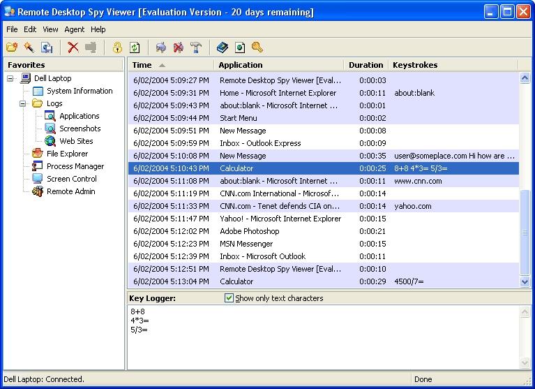 Remote Desktop Spy - standaloneinstaller com
