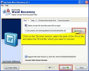 Download Repair Word File
