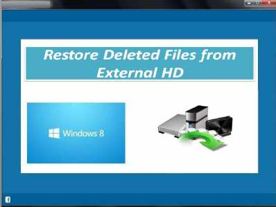 Restore Deleted Files from External HD