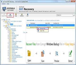 Restore XP Backup Data