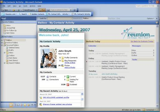 Download Reunion.com for Outlook