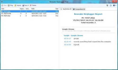 Download Revealer Keylogger Free