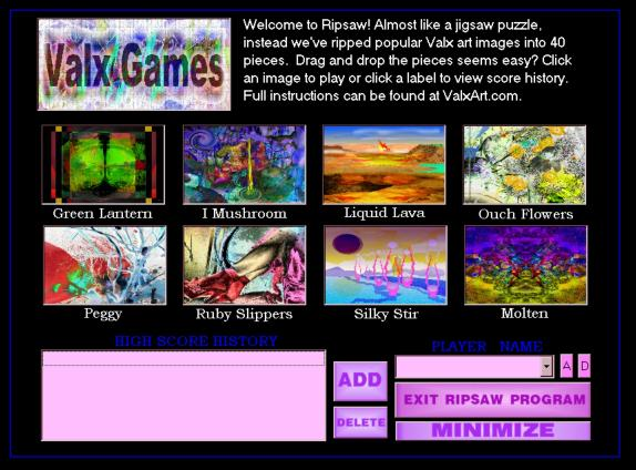 Download RipSaw3 Abstract Art Puzzle