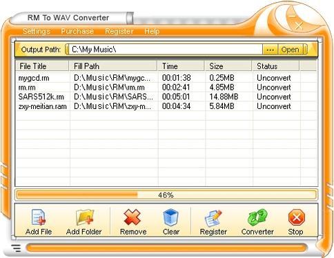 Download RM To WAV Converter
