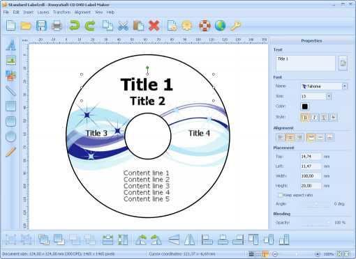 Download RonyaSoft CD DVD Label Maker