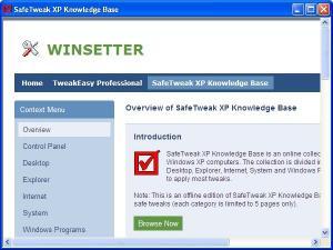 Download SafeTweak XP Knowledge Base
