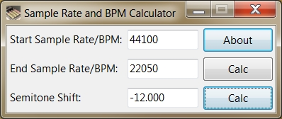 Sample Rate and BPM Calculator - standaloneinstaller com