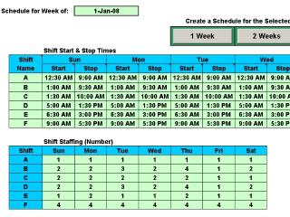 Download Schedule Multiple Shifts Automatically