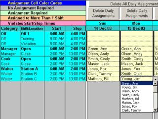 Download Schedule Split Shifts for 25 Employees