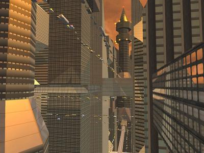 Download Sci-Fi Future City 3D Screensaver