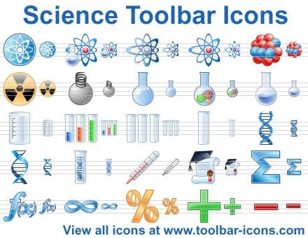 Download Science Toolbar Icons
