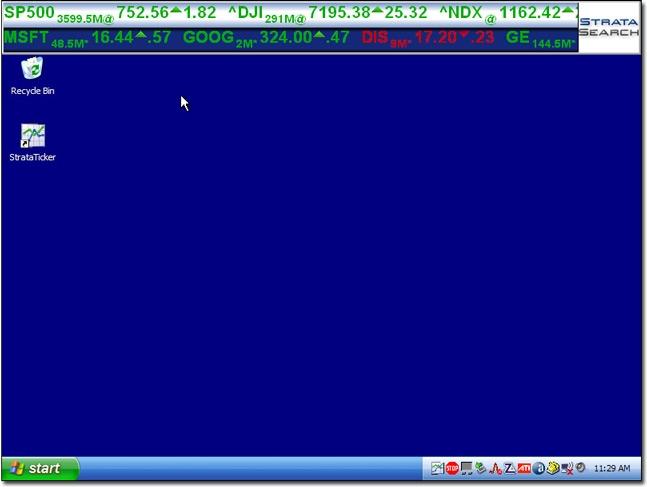 How to create A Desktop Ticker