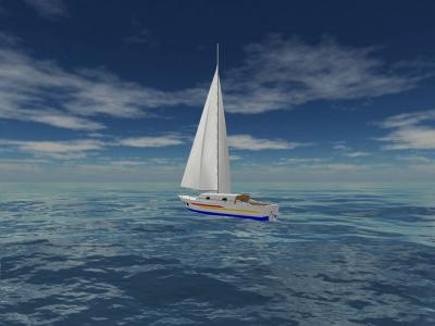 Download Sea Yacht Cruise 3D Screensaver