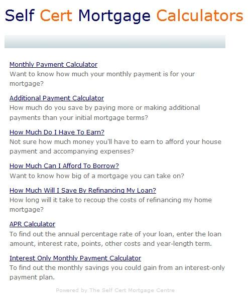 Download Self Employed Mortgage Calculators