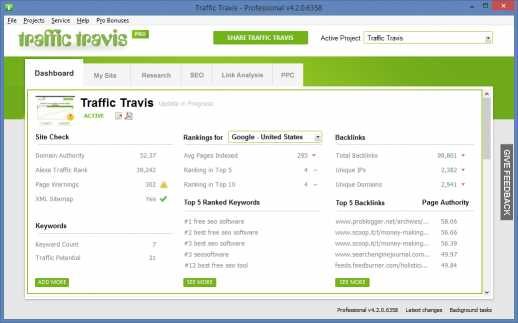 Download SEO Software - Traffic Travis
