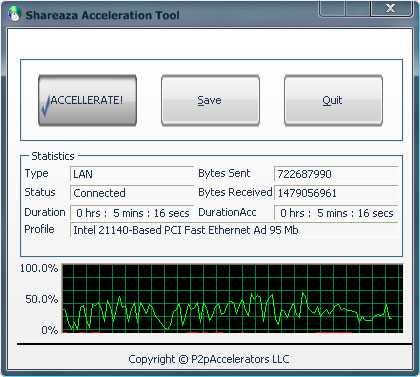 Download Shareaza Acceleration Tool