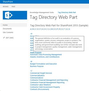 Download SharePoint Tag Directory Web Part