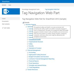 Download SharePoint Tag Navigation Web Part