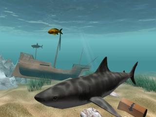 Download Shark Water World 3D Screensaver