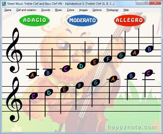 Download Sheet Music Treble Clef and Bass Clef HN
