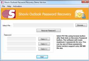 Shoviv Outlook Password Recovery