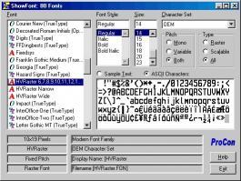 Download ShowFont - Windows Font Lister