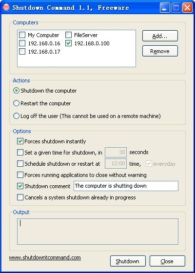 Download Shutdown Command