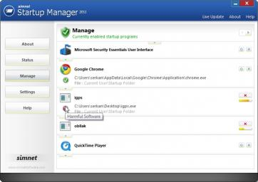 Download Simnet Startup Manager 2011