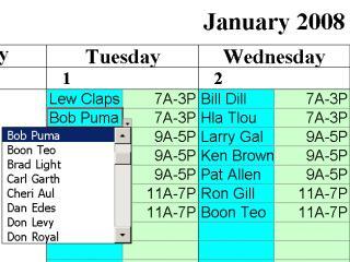 Download Simple Scheduling Calendar