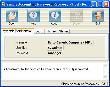 Download Simply Accounting Password Recovery