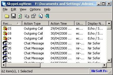 Download SkypeLogView