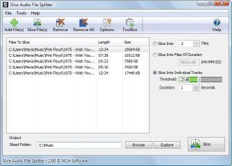 Download Slice Professional Audio File Splitter
