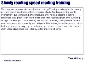 Download Slowly reading