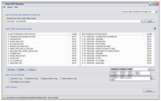 Download Smart MP3 Renamer