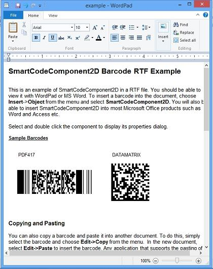 Download SmartCodeComponent2D Barcode
