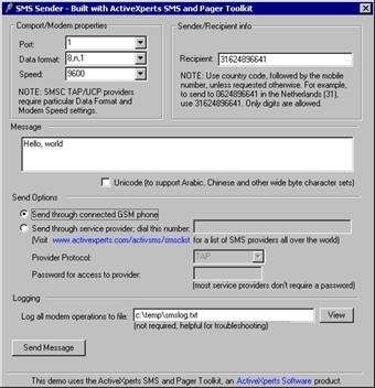 Download SMS and Pager Toolkit