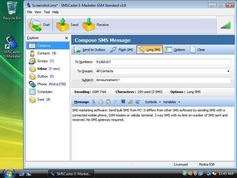 Download SMSCaster E-Marketer GSM Standard