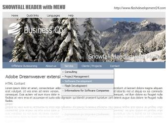 Download Snowfall Header with Menu DW Extension