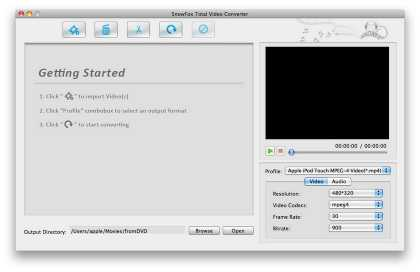 SnowFox Total Video Converter for Mac