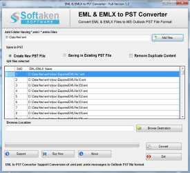 Softaken EML to Outlook Converter