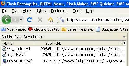 Sothink Flash Downloader for Firefox