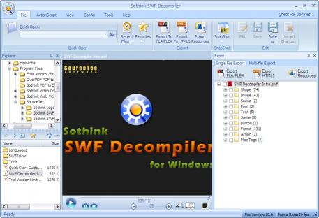 Download Sothink SWF Decompiler