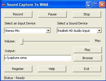 Download Sound Capture To WMA
