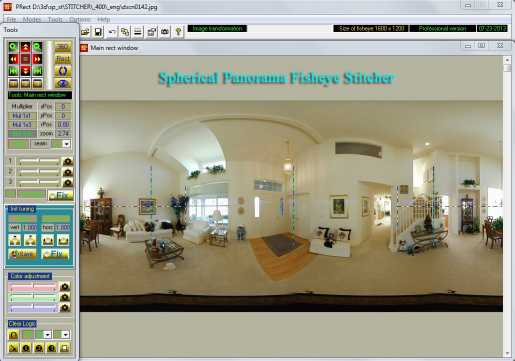 Spherical Panorama Fisheye Stitcher