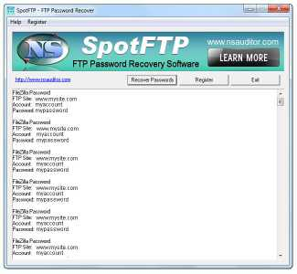 Download SpotFTP Password Recover