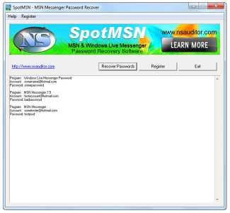 Download SpotMSN Password Recover