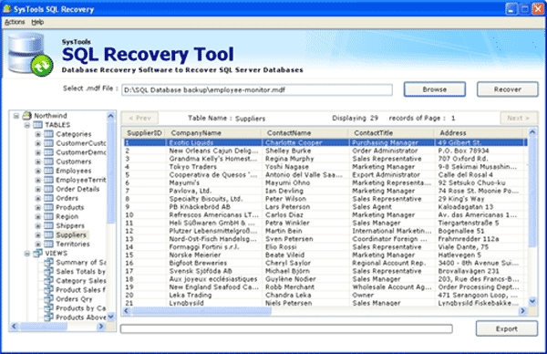 SQL Database Recovery Software - standaloneinstaller com